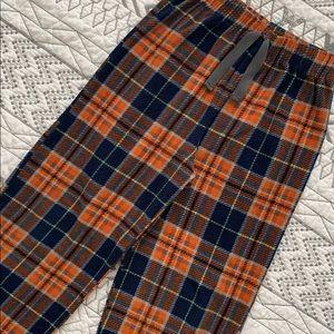 Other - 💤 3/$10 Orange Plaid Fleece PJ Pajama Pants 7/8